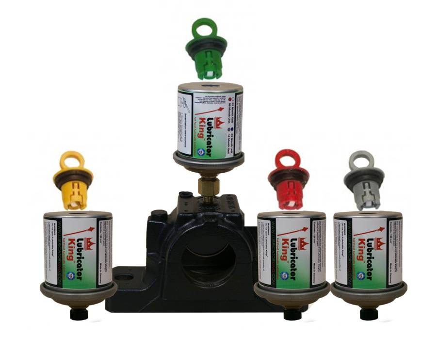 Four automatic grease lubricators